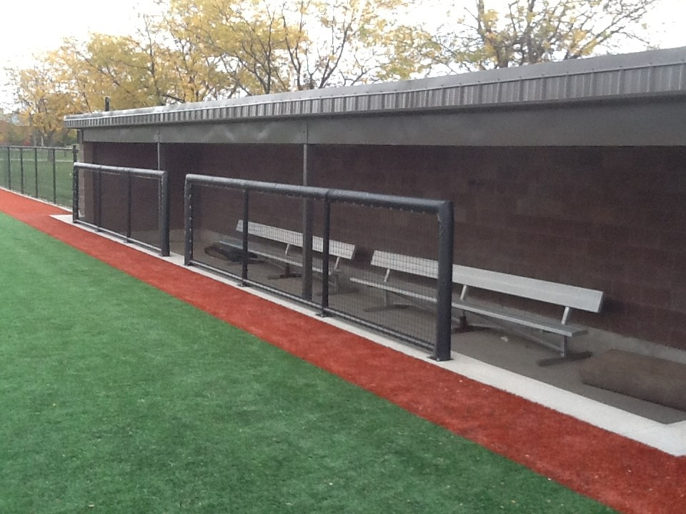 Completed dugout