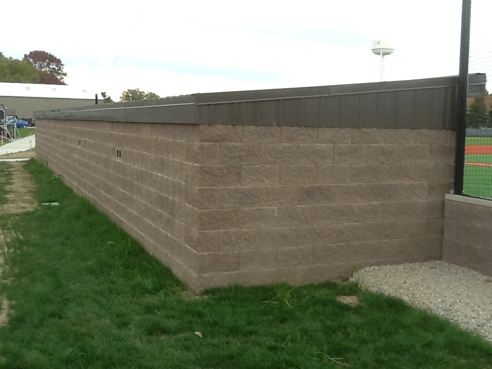 Back of completed dugout